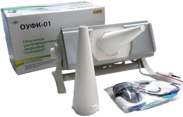 Облучатель ультрафиолетовый кварцевый ОУФК-01 «Солнышко» (лампа ДРТ-125