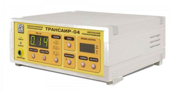 Электростимулятор транскраниальный импульсный трехпрограммный ТРАНСАИР-04   Физиотерапия   Электрические токи