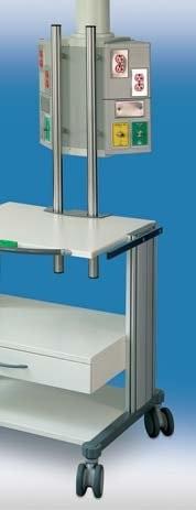 Приборная тележка Swingo М6   Светильники медицинские   Консоли подвесные потолочные