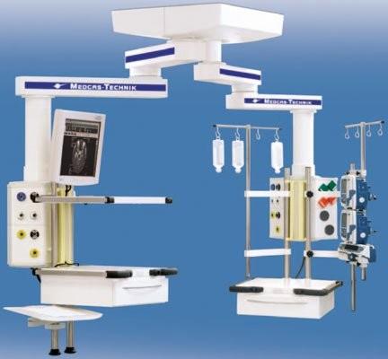 MAXIMUS 1000/2000 Комбинированная подвесная система с индивидуальной длиной плеч   Светильники медицинские   Консоли подвесные потолочные