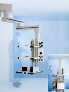 MAXIMUS 2000 Подвесная система для тяжелой аппаратуры с возможностью горизонтального перемещения для повышенных нагрузок | Светильники медицинские | Консоли подвесные потолочные