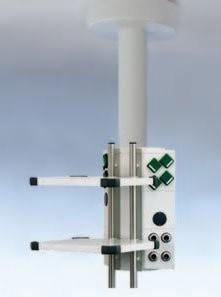 Starrer stempel Жесткая вертикальная колонна с кронштейнами-держателями | Светильники медицинские | Консоли подвесные потолочные