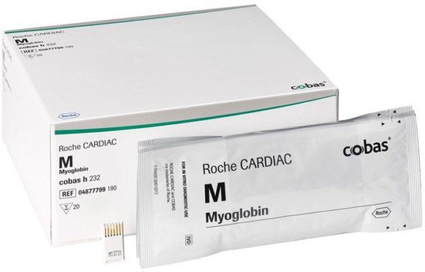 Набор тест-полосок для определения концентрации Миоглобина CARDIAC M Myoglobin Roche   Лабораторное оборудование   Анализаторы   Экспресс-анализаторы