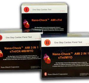 Тест-полоска Nano-CheckTM AMI tTnl (упаковка 20 шт.)   Лабораторное оборудование   Анализаторы   Экспресс-анализаторы