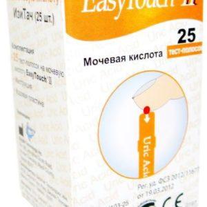 Тест-полоски на мочевую кислоту ИзиТач (EasyTouch® Uric Acid) (25 шт) | Лабораторное оборудование | Анализаторы | Приборы для измерения гемоглобина