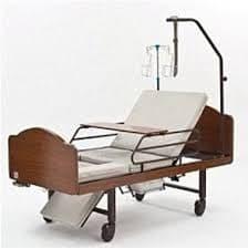 Кровать функциональная медицинская 3-х секционная механическая с санитарным оснащением DHC FF-3 | Мебель медицинская | Медицинские кровати