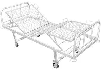 ункциональная медицинская кровать с механической регулировкой секций HILFE КМ-03 | Мебель медицинская | Медицинские кровати