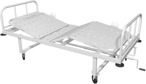 Функциональная медицинская кровать с механической регулировкой секций HILFE КМ-04 | Мебель медицинская | Медицинские кровати