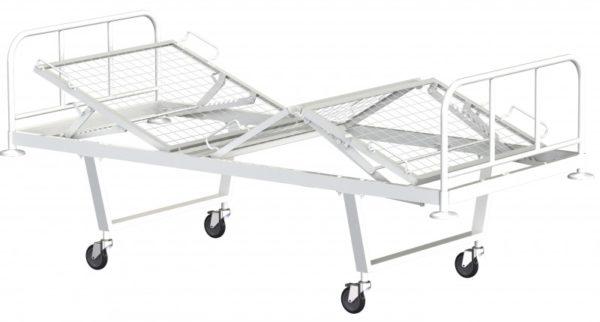 """Кровать функциональная трехсекционная КФ3-01-""""МСК"""" (на колесах"""
