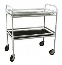 Столик процедурный с двумя полками из нержавеющей стали (МСК-504) | Мебель медицинская | Столики инструментальные