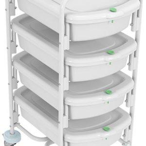 Тележка контейнерная эндоскопическая с контейнерами ТКЭ-4-КРОНТ-1 | Мебель медицинская | Столы медицинские | Столы