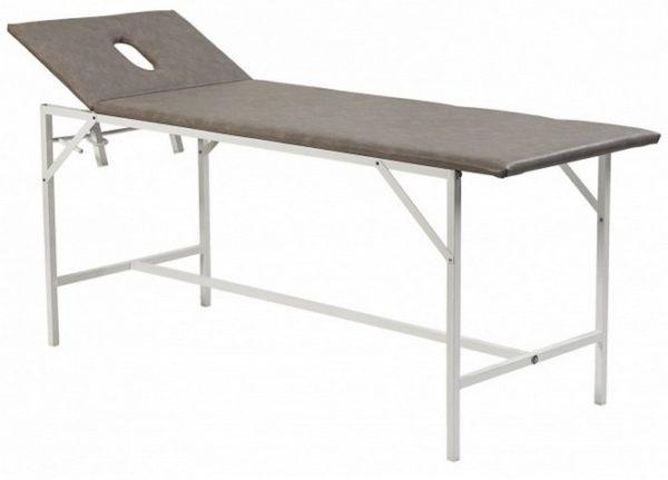 Кушетка массажная серая КММ-01 МСК-212 | Мебель медицинская | Кушетки и банкетки медицинские | Кушетки массажные | Стационарные кушетки
