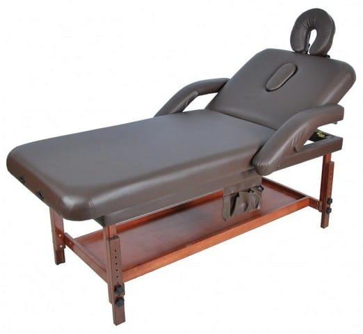 Стационарный массажный стол деревянный FIX-1A (МСТ-7Л) | Мебель медицинская | Кушетки и банкетки медицинские | Кушетки массажные | Стационарные кушетки