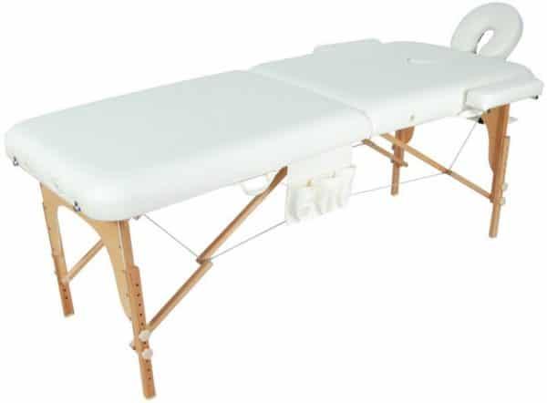 Массажный стол складной деревянный JF-AY01 2-х секционный | Мебель медицинская | Кушетки и банкетки медицинские | Кушетки массажные | Складные кушетки