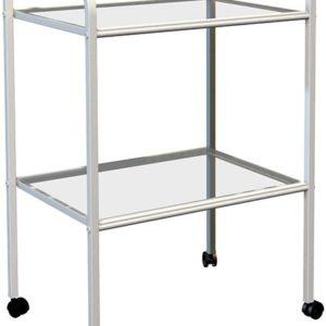 Стол процедурный МД SP 2G (2 полки стекло) | Мебель медицинская | Столики инструментальные