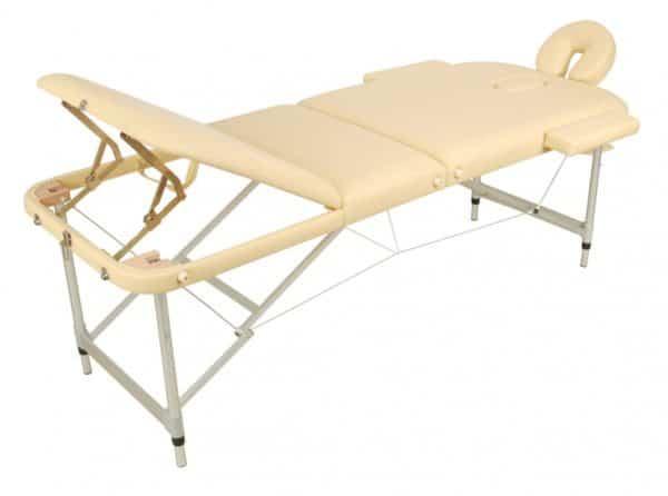 Массажный стол складной алюминиевый JFAL03 (3-х секционный) | Мебель медицинская | Кушетки и банкетки медицинские | Кушетки массажные | Складные кушетки