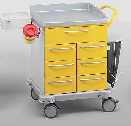 Тележка перевязочная в комплекте VARIMED 860 х 645 х 605 мм   Мебель медицинская   Тележки медицинские