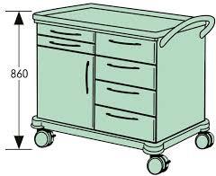 Тележка перевязочная VARIMED 900 х 860 мм | Мебель медицинская | Тележки медицинские