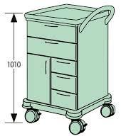 Тележка для интенсивной терапии в комплекте VARIMED 1010 х 690 х 590 мм | Мебель медицинская | Тележки медицинские
