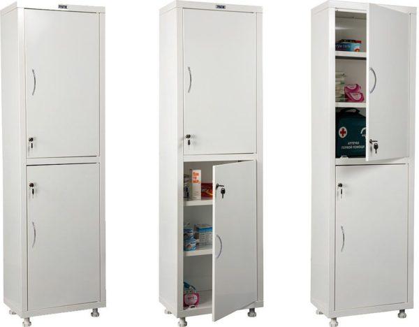 Шкаф HILFE МД 1 1650/SS | Мебель медицинская | Шкафы для всех отраслей | Шкафы медицинские металлические