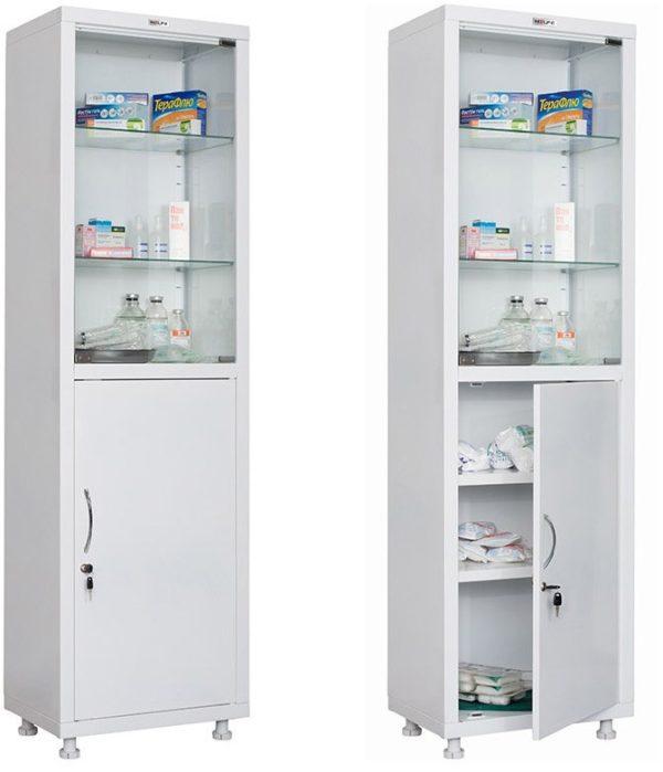 Шкаф HILFE МД 1 1657/SG   Мебель медицинская   Шкафы для всех отраслей   Шкафы медицинские металлические