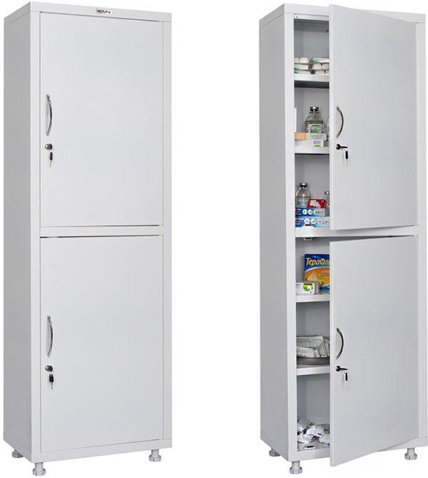 Шкаф HILFE МД 1 1760/SS   Мебель медицинская   Шкафы для всех отраслей   Шкафы медицинские металлические