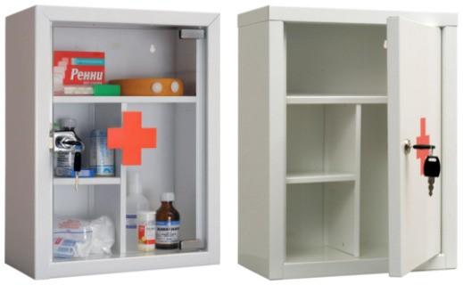 Аптечка AMD 39G (MDA 39G) HILFE МД Промет | Мебель медицинская | Шкафы для всех отраслей | Шкафы медицинские металлические