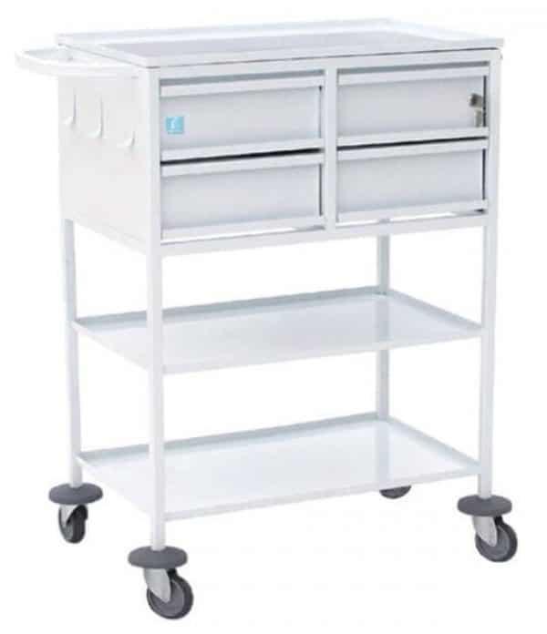 Стол-тележка манипуляционный с 4 ящиками   Мебель медицинская   Столики инструментальные