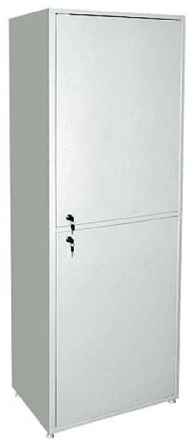 Шкаф металлический двухсекционный однодверный МСК-646-02 | Мебель медицинская | Шкафы для всех отраслей | Шкафы медицинские металлические
