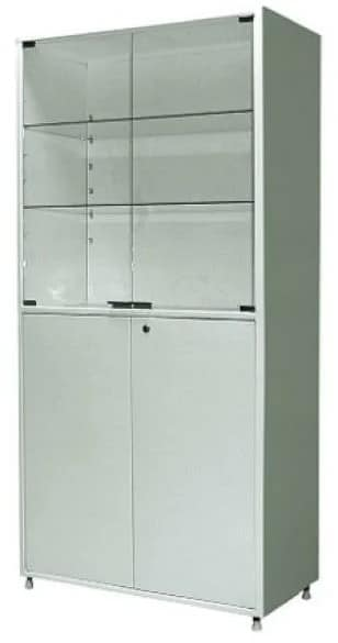 Шкаф металлический двухсекционный двухдверный МСК-647-02   Мебель медицинская   Шкафы для всех отраслей   Шкафы медицинские металлические