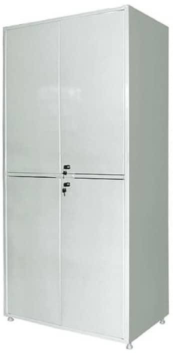 Шкаф металлический двухсекционный двухдверный МСК-647-01 | Мебель медицинская | Шкафы для всех отраслей | Шкафы медицинские металлические