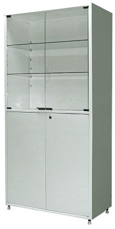 Шкаф металлический двухсекционный двухдверный МСК-648-02 | Мебель медицинская | Шкафы для всех отраслей | Шкафы медицинские металлические