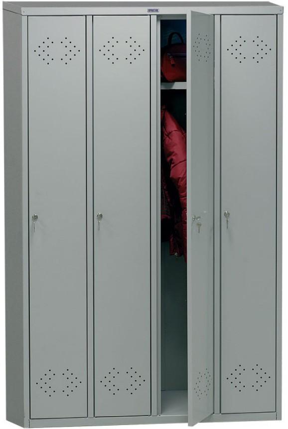 Шкаф для раздевалок ПРАКТИК МД LS(LE) 41 | Мебель медицинская | Шкафы для всех отраслей | Шкафы для одежды