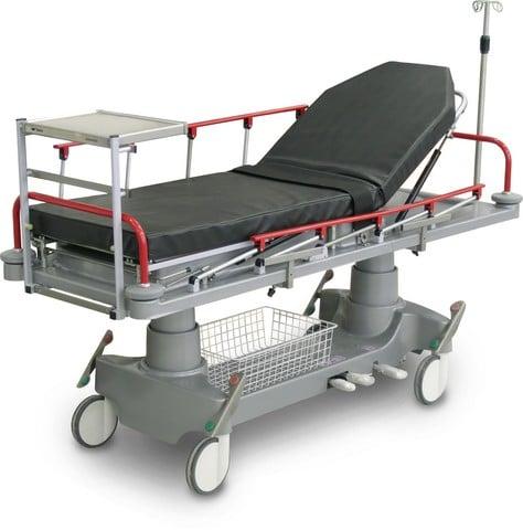 Тележка медицинская реанимационная Медин-Элпис (2-секционная панель с регулировкой спинной секции ) | Мебель медицинская | Тележки для перевозки больных