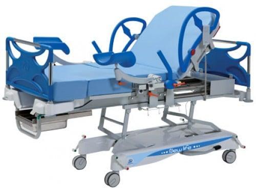 Кровать для родовспоможения с регулируемой высотой ложа электроприводом 19-PO905 Vernipoll   Мебель медицинская   Мебель Vernipoll   Родовспоможение Vernipoll