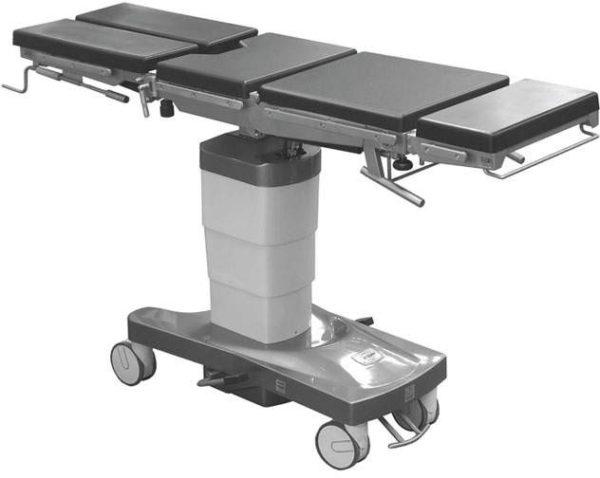 Стол общехирургический с функцией бокового наклона панели и изломом спинной секции ОК-ГАММА МОБИЛ 01 | Мебель медицинская | Столы медицинские | Столы операционные