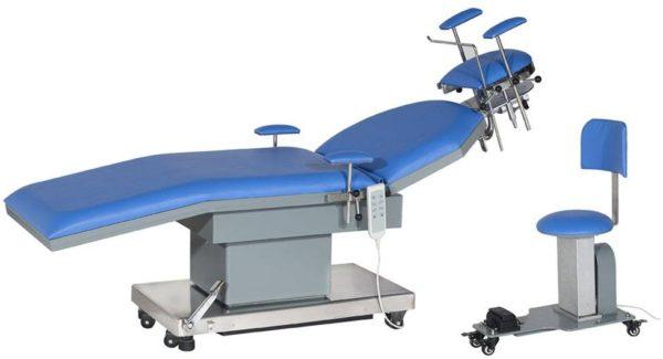 Стол операционный для офтальмологии и оториноларингологии электрический JK205-1B с электрической регулировкой головной секции (вар.осн. 1)   Мебель медицинская   Столы медицинские   Столы операционные