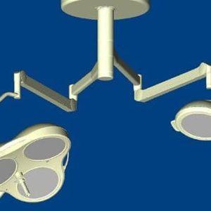 Mach M5 + Mach M2 Комбинированный потолочный бестеневой операционный светильник | Светильники медицинские | Комбинированные операционные светильники