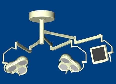 Mach M3 + Mach M3 + монитор Комбинированный потолочный бестеневой операционный светильник с монитором | Светильники медицинские | Комбинированные операционные светильники
