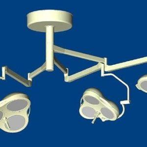 Mach M5 + Mach M3 + Mach M2 Комбинированный потолочный бестеневой операционный светильник | Светильники медицинские | Комбинированные операционные светильники